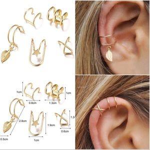 ⚡CLEARANCE 5pc set ear cartilage cuffs